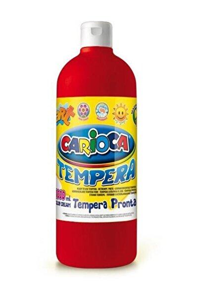 Tempera Boya - Kırmızı (Süper Yıkanabilir) 1000ml - 1350gr / Plastik Şişede /