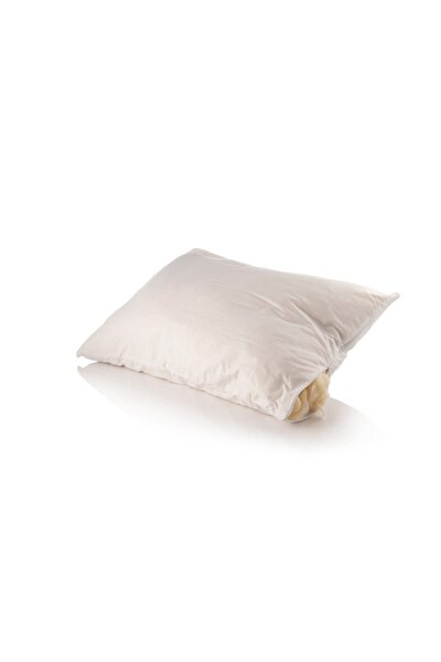 Boyun Fıtığı Için Doğal Yün Uyku Yastığı Beyaz %100 Yün 50x70 1250gr