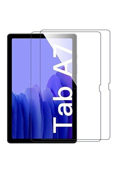 """Samsung Galaxy Tab A7 T500 T505 Kılıf 10.4"""" 2020 Ekran Koruyucu Şeffaf Kırılmaz Cam"""