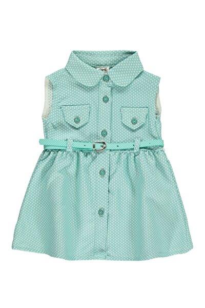 Kız Bebek Elbise  Mint Yeşili