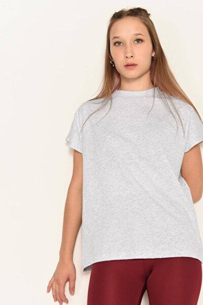 Kadın Kar Melanj Basic T-Shirt P0769 - U13 Adx-0000020933