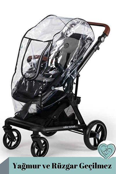 Fermuarlı Yağmur Ve Rüzgar Geçilmez Deluxe Bebek Arabası Yağmurluğu
