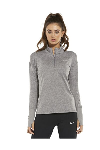 Kadın Spor Sweatshirt-w Nk Elmnt Ttop Hz Nfs