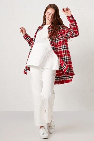 Kadın Beyaz Rodeo Maternity Jean