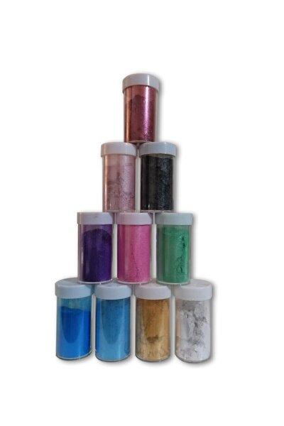 Epoksi Bazlı Sedefli Toz Pigment Seti 10 Renk 10 gr