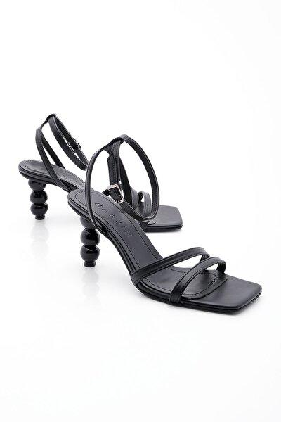 Kadın Siyah Topuklu Sandalet Bople