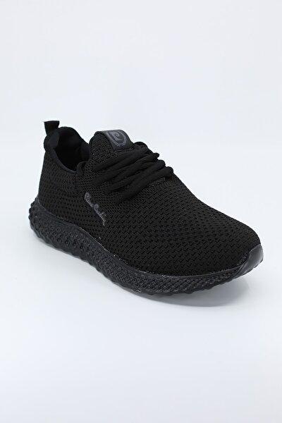 Kadın  Siyah Bağcıklı Spor Ayakkabı Pc-30647 /black 21s430647
