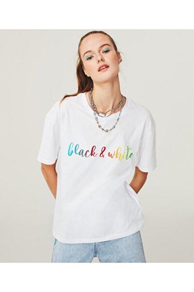 Renkli Baskılı T-shirt