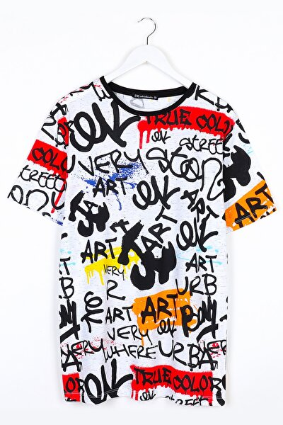 Yazı Baskılı Oversize Unisex Tshirt