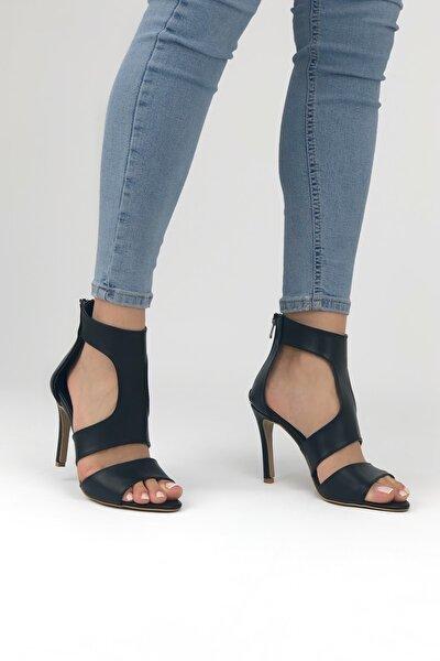Ince Topuklu Siyah Kadın Topuklu Ayakkabı