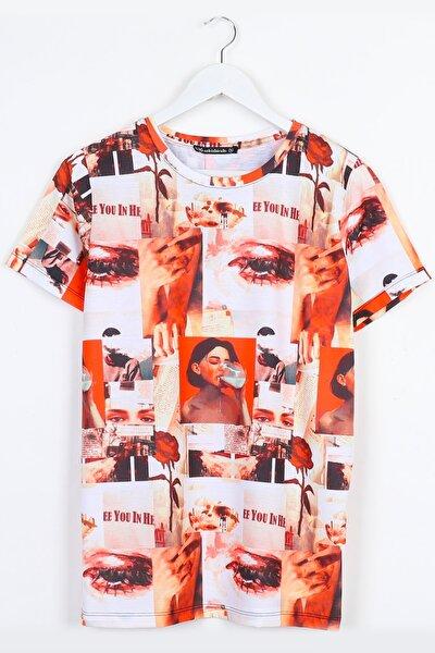 Portre Detay Digital Baskılı Unisex Tshirt
