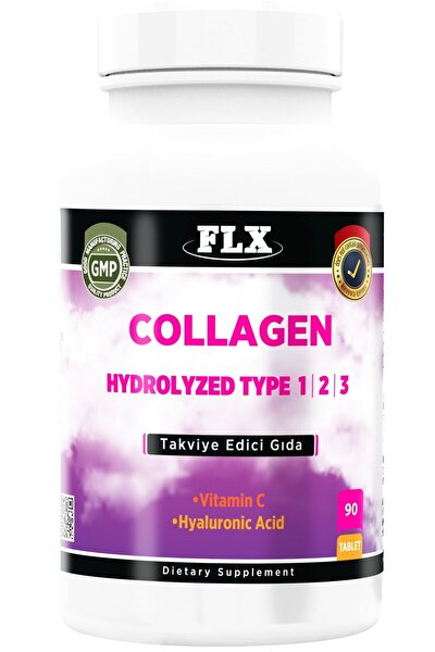 Kollajen Tip-1 Tip-2 Tip-3 Hyaluronic Asit Vitamin C 90 Tablet Collagen