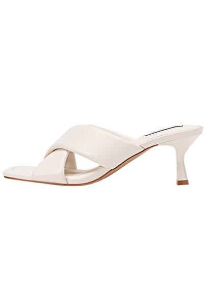 Kadın Ekru Dolgulu Topuklu Sandalet 19200770