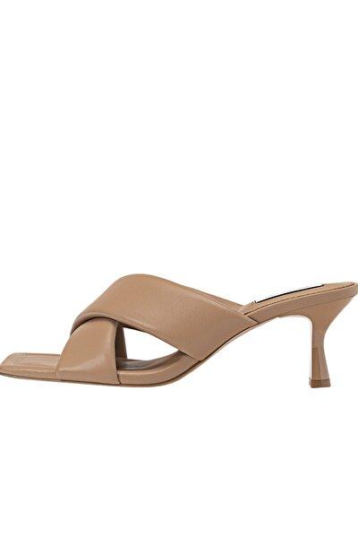 Kadın Bej Dolgulu Topuklu Sandalet 19200770