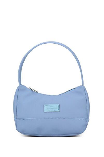 Kadın Mavi Baguette Çanta 197
