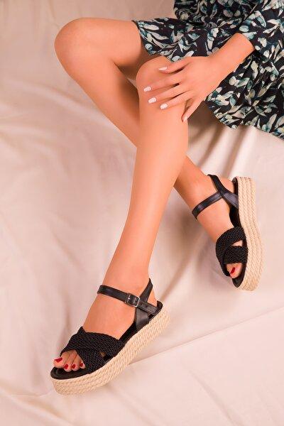 Siyah Kadın Sandalet 14952