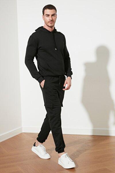 Siyah Erkek Jogger Lastikli Eşofman Altı TMNSS20EA0028