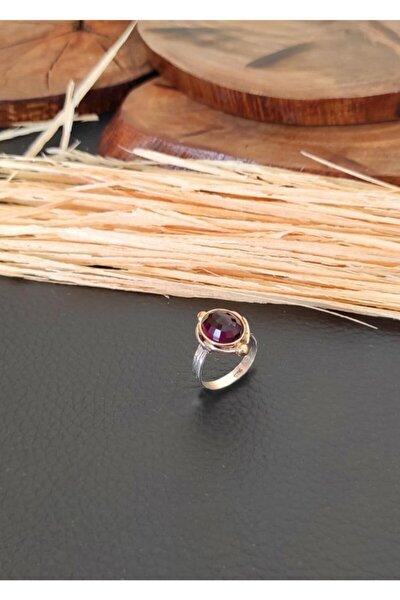 Ametist Taşlı Otantik Gümüş Bayan Yüzüğü Ucuz Kadın Yüzükleri Yzk-377