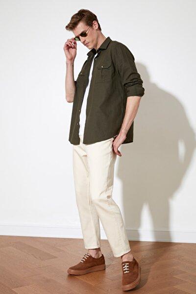 Ekru Erkek Relax Fit Jeans TMNSS21JE0123