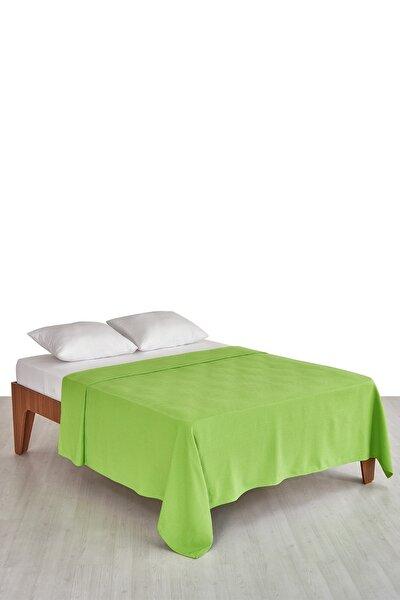 Yeşil Pike Pamuklu 190x230 Cm Çift Kişilik