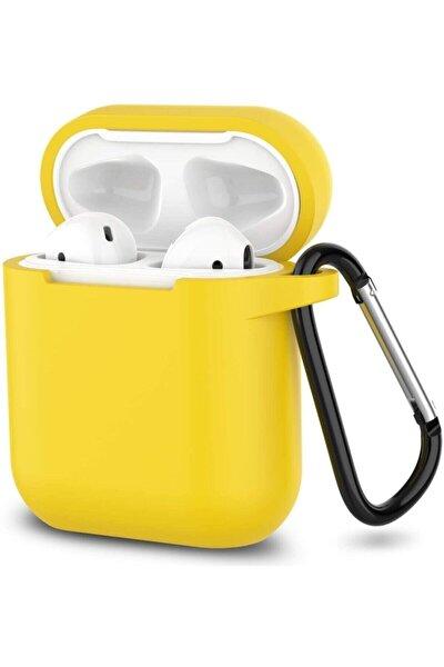 Airpods Kılıf Silikon Sarı Kılıf