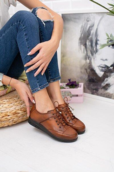 Kadın Taba Deri Günlük Ayakkabı