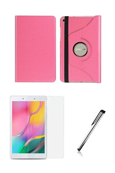 Samsung Galaxy Tab A Uyumlu Sm-t290 Dönerli Tablet Kılıfı Seti (8 Inç') Pembe