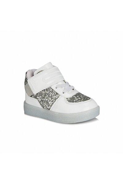 Kız Bebek Beyaz Işıklı Sneaker
