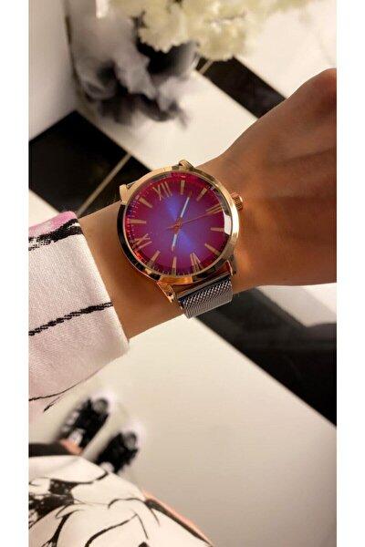 Bay&bayan Çelik Renkli Ekram Kol Saati