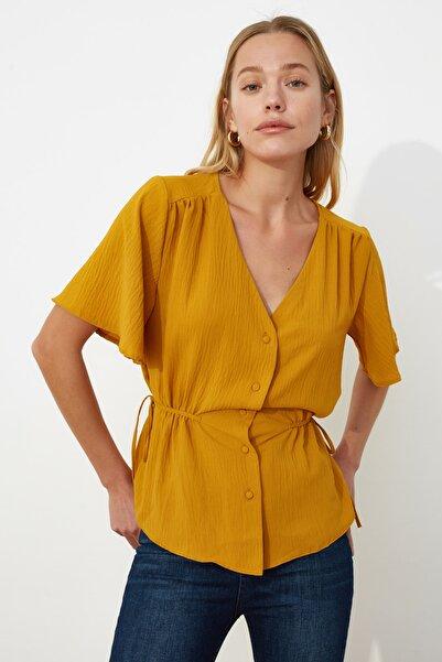 Sarı Melek Kol Bluz TWOSS20BZ0330