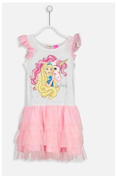Kız Çocuk  Barbie Tüllü Elbise
