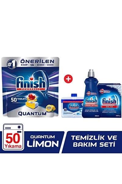 Quantum 50 Tablet Bulaşık Makinesi Deterjanı Limon + Temizlik Ve Bakım Seti