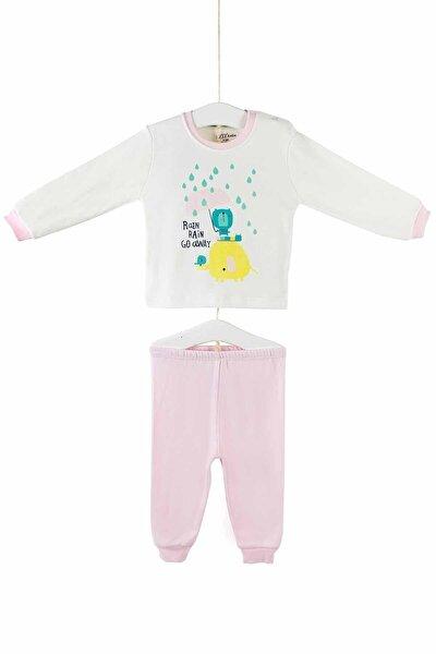 Kız Çocuk Pembe Pijama Takımı 3-6 Yaş 9418