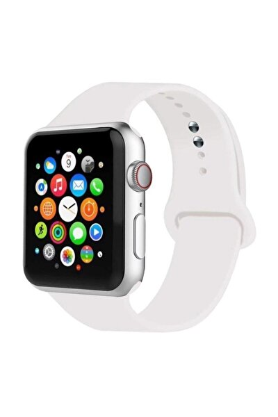 Apple Watch Uyumlu Kordon 2 3 4 5 Seri 42 Mm Ve 44 Mm Silikon Kordon Kayış