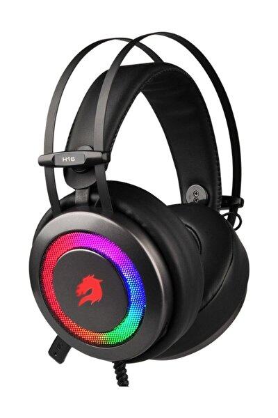 H16 Storm 7 Renk, Titreşimsiz Kısa Mik. Gri Oyuncu Kulaklığı