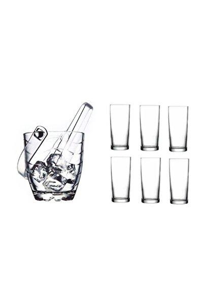 Rakı Bardağı ve Buz Kovası Seti 8 Parça