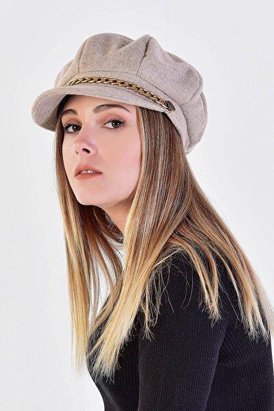 Kadın Açık Kahve Denizci Tipi Kaşe Şapka Şpk02 - E1 ADX-0000020361