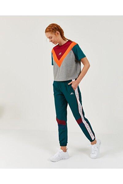 High Vibes 2 W Colorblock V Neck Tee Kadın Gri Tshirt