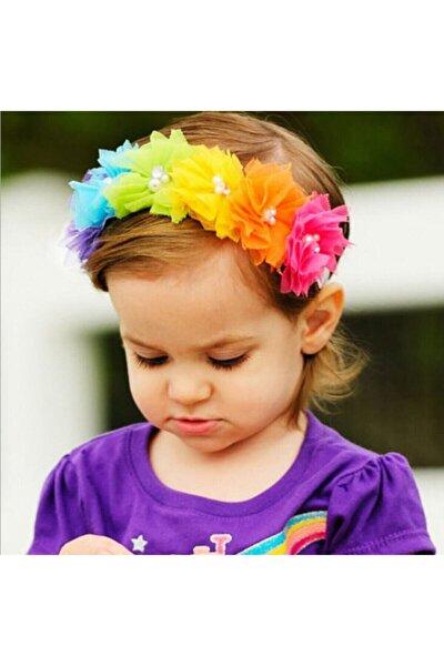 Çiçekli Taç Ve Bileklik Hediye .çocuk Saç Aksesuarı