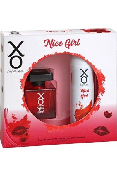 Orıjınal Nice Girl Kadın Parfüm Seti 100 Ml Edt + 125 Ml Deodorant Ikili Set