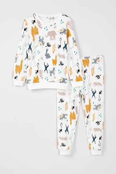 Erkek Çocuk Hayvanlar Desenli Pijama