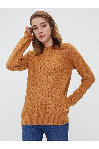 Kadın Camel Pullover Kazak 2025905