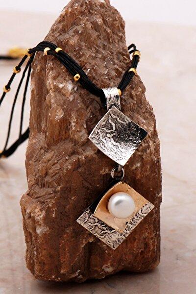 Inci Çekiç Dövme El Yapımı Gümüş Kolye 6798