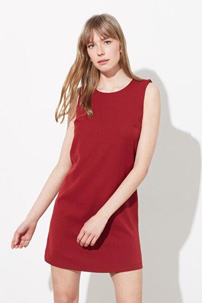 Bordo Basic Kolsuz Elbise TWOSS19FG0063