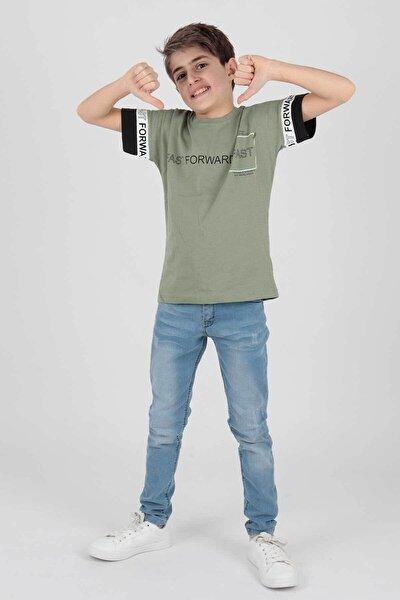Erkek Çocuk Haki Fast Baskılı Tshirt