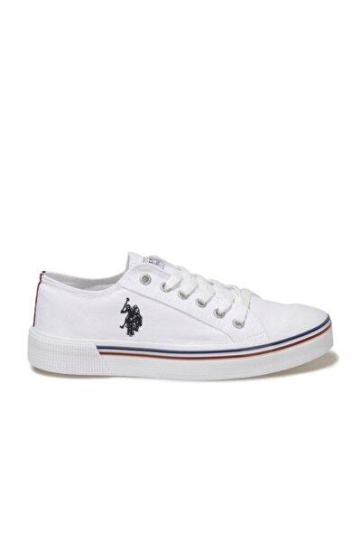 Kadın Beyaz Keten Günlük Sneaker