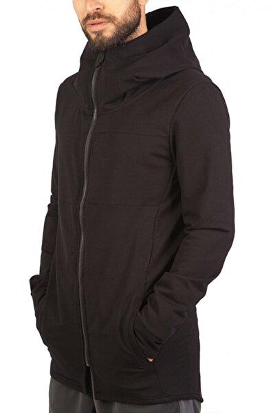 Erkek Siyah Uzun Sweatshirt