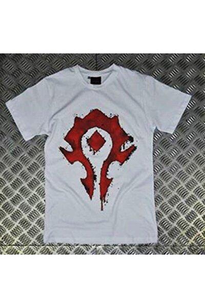 Unisex Warcraft Baskılı T-shirt