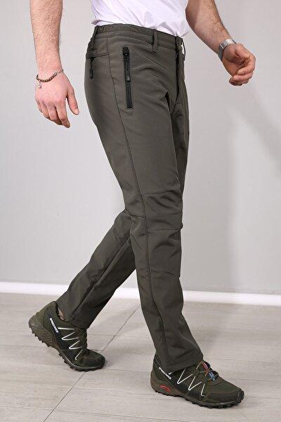 Erkek Haki Su ve Rüzgar Geçirmez Softshell Pantolon