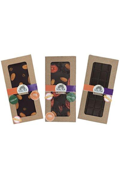 3'lü Masum Çikolata Serisi (Şekersiz Vegan Çikolata- 3*100gr Baton)